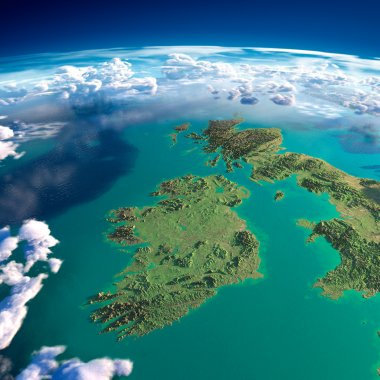 Fragments of the planet Earth. Ireland and UK