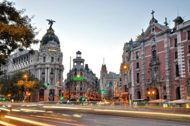 MADRID,SPAIN - SEPTEMBER 30: Gran Via street on September 30, 20
