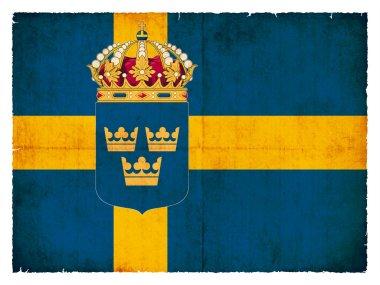 Grunge flag of Sweden