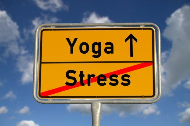 German road sign stress and Yoga