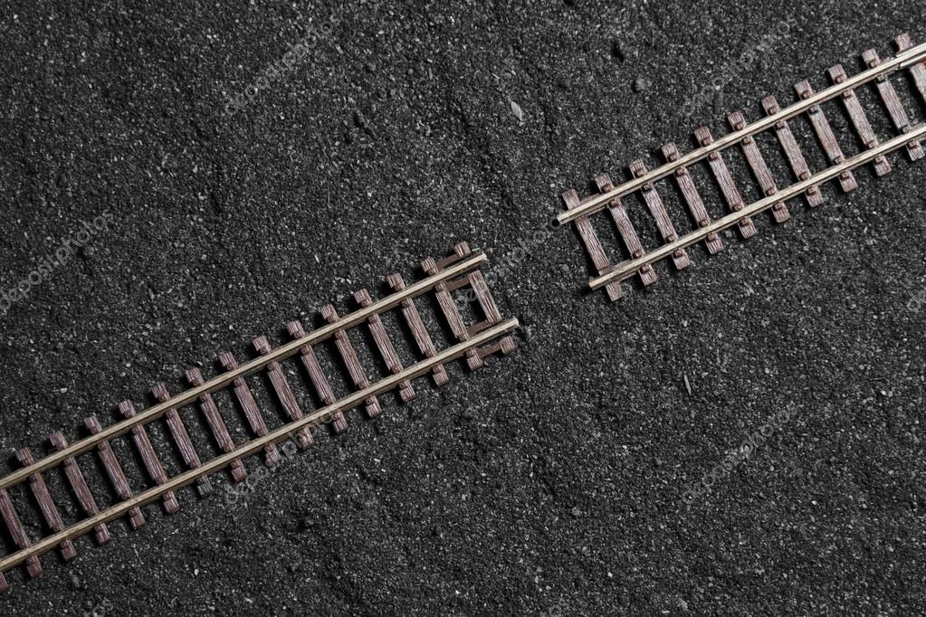 gap between railroad tracks — Stock Photo © serrnovik #13599149