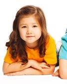 Fotografie Asijská dívka na podlaze
