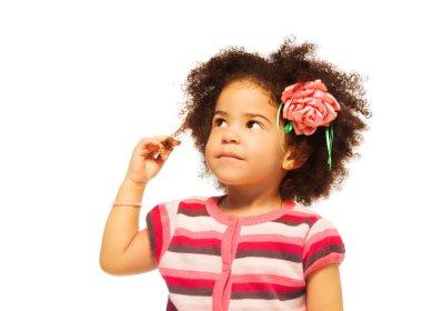 Clever little black girl