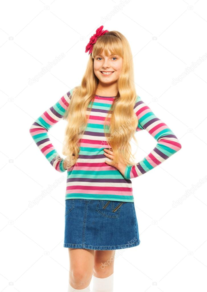 Hübsch Blond 10 Jahre Altes Mädchen Stockfoto Serrnovik 24686891