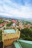 Fotografie pohled z hradu bojnice