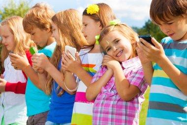 Kids with phones