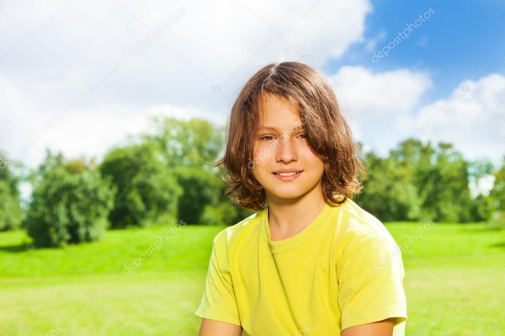 12 anos de idade menino retrato — Fotografias de Stock