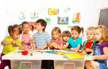 Kids in the art class