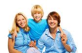 rodiče s jejich radost syna