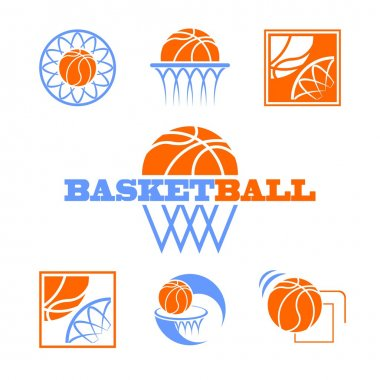 Set of vector symbols basketball