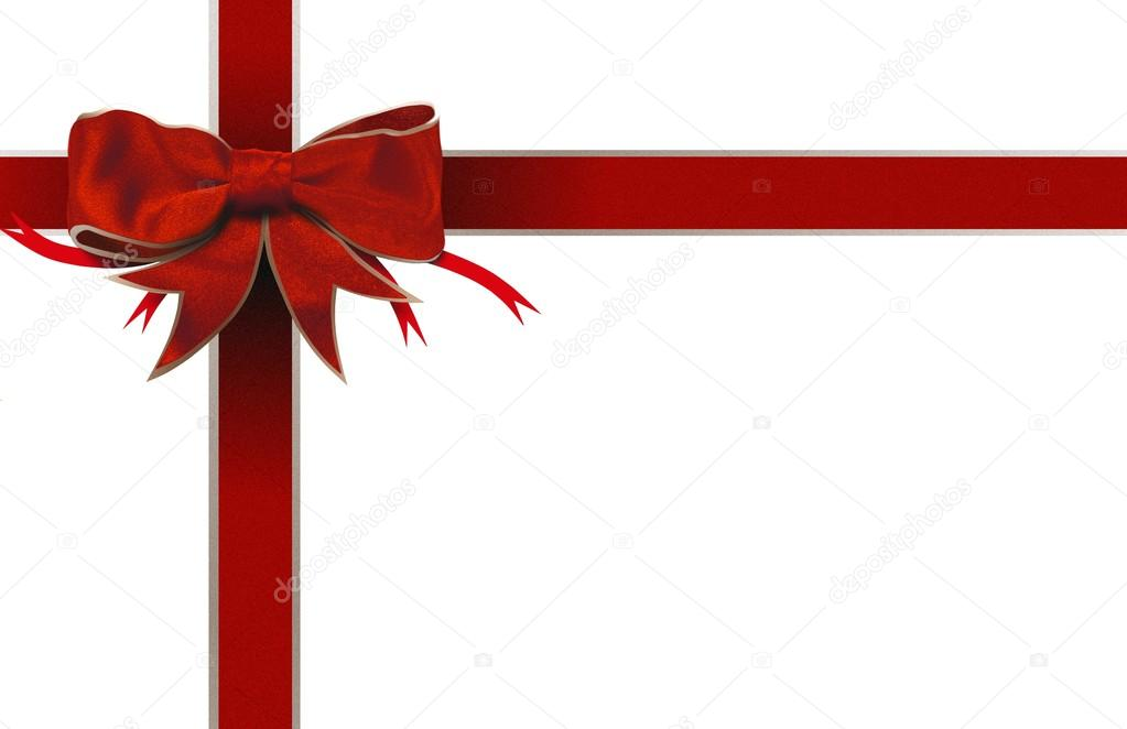 Red bow ribbon frame — Stock Photo © razihusin #18695629