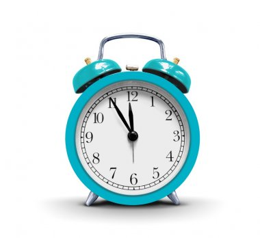 Alarm clock over white stock vector