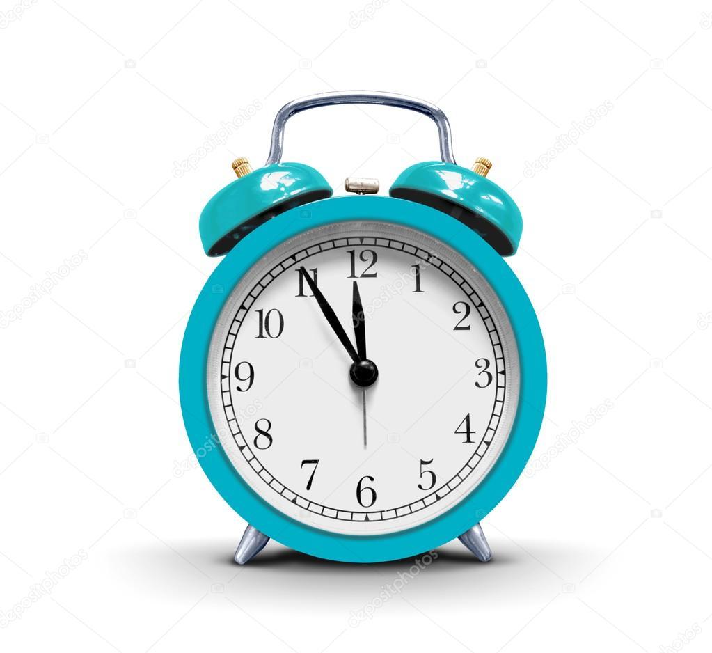 Alarm clock over white