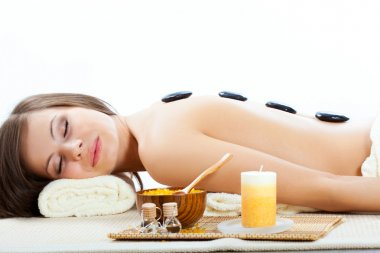 Woman getting treatment in a spa