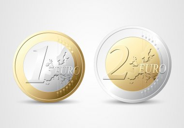 1 and 2 Euros