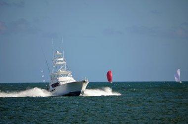 Sport Fishing Boat Speeding Back to Port