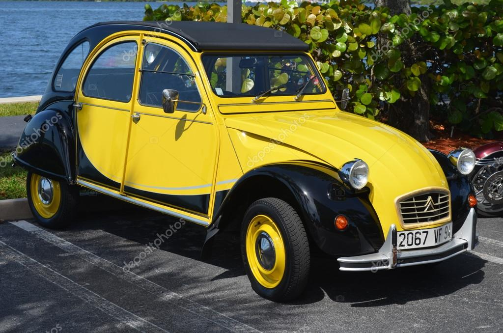 A completely restored Citroen CV2 an affordable vehicle that had its height of popularity in Europe in the 1960s and 70s, stock vector