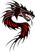 Fotografia drago tatuaggio rosso