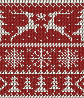 Christmas knitted pattern