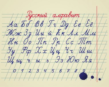 Russian alphabet set