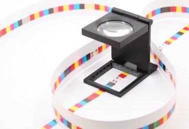 CMYK printing color bar.