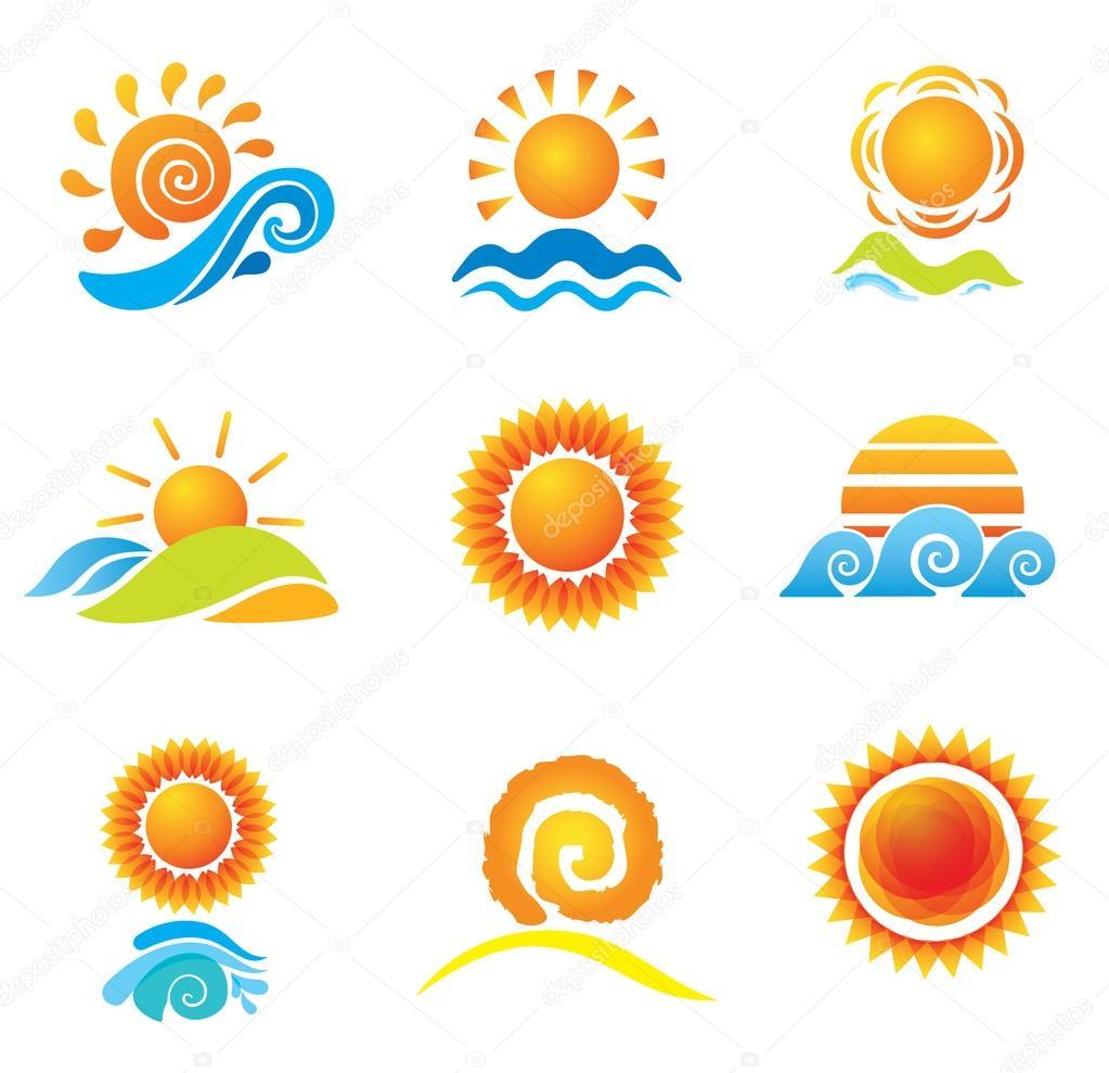 Set of Suns. Original Design Elements.
