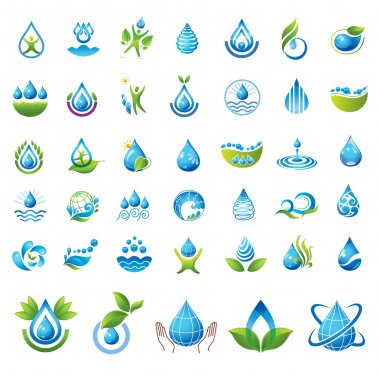 Set of vector Water icons.