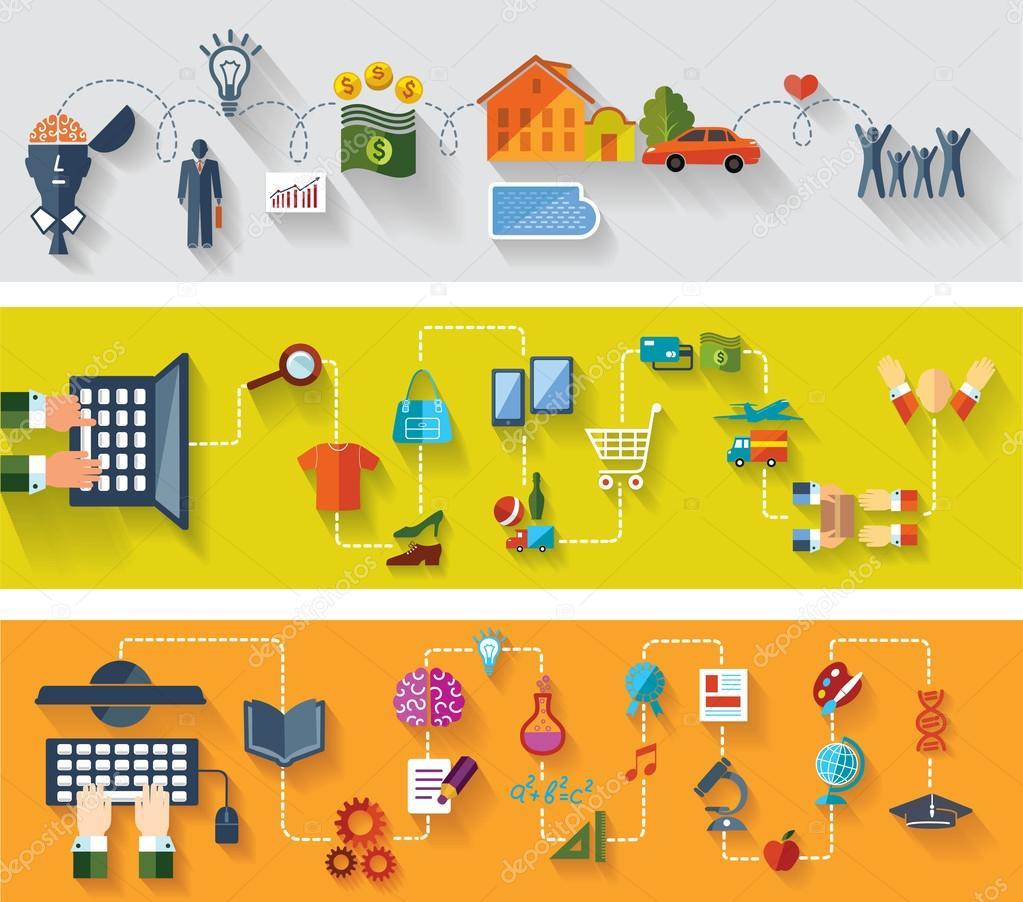 banners de televis es e web design conjunto de planos de. Black Bedroom Furniture Sets. Home Design Ideas
