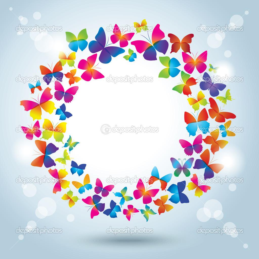 marco con mariposas. hora de verano — Vector de stock © nuraschka ...