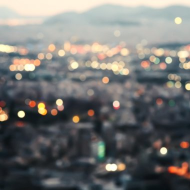 City at night,bokeh background.
