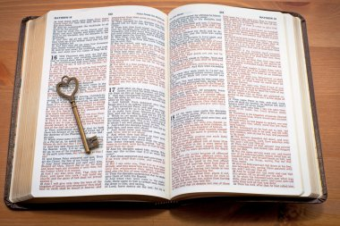 Keys to the Kingdom, key on the open bible