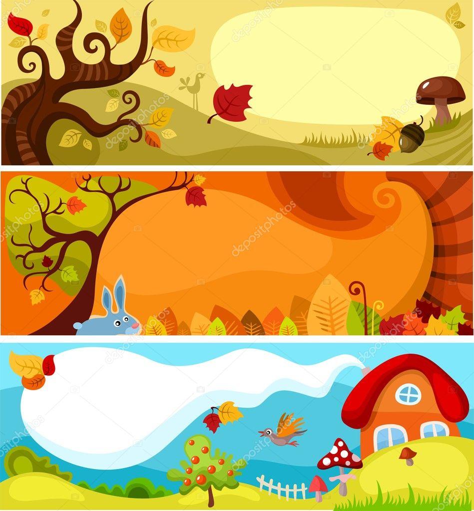 Autumn card set