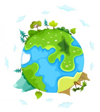 Vector earth illustration