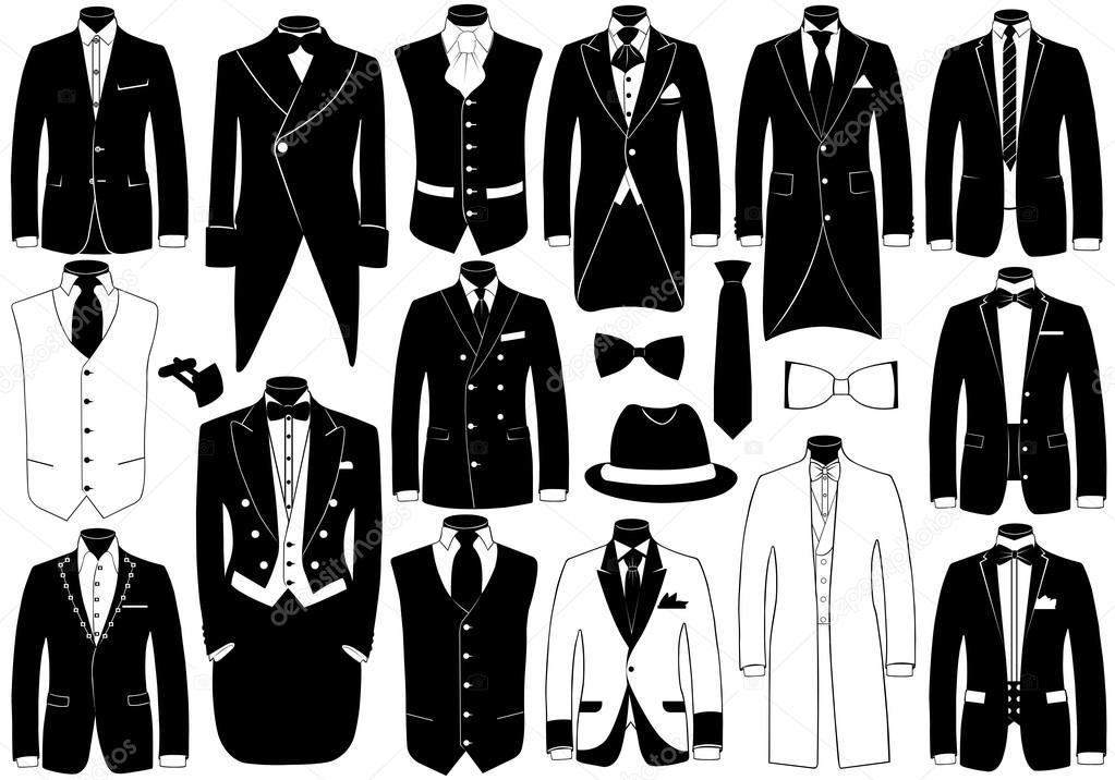 Suits illustration set