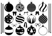 Photo Set of different Christmas decorations