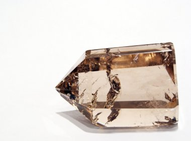 Smoky Quartz Crystal in artificial light