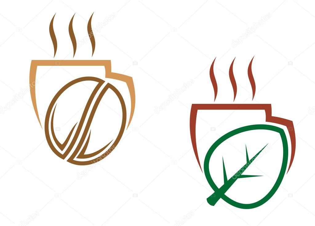 Coffee And Tea Symbols And Icons For Food Design Such A Logo Jpeg
