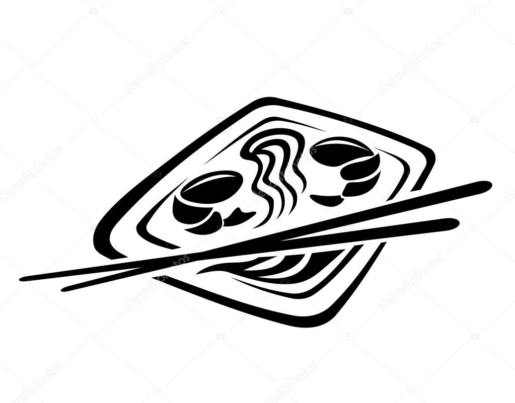 japan restaurant seafood such logo � stock vector