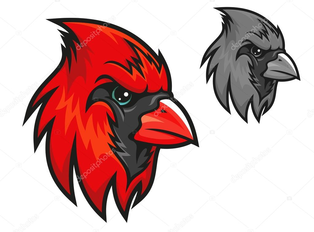 Oiseau cardinal rouge dans le style de dessin anim - Style de dessin ...