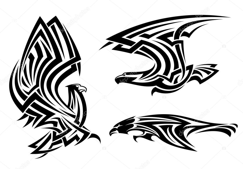 Faucon Buse Et Aigle Tribal Image Vectorielle Seamartini C 25899801