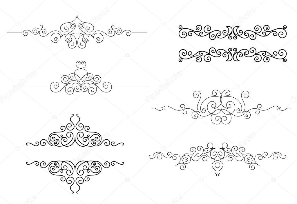 monogramas y marcos en estilo de viñeta — Vector de stock ...