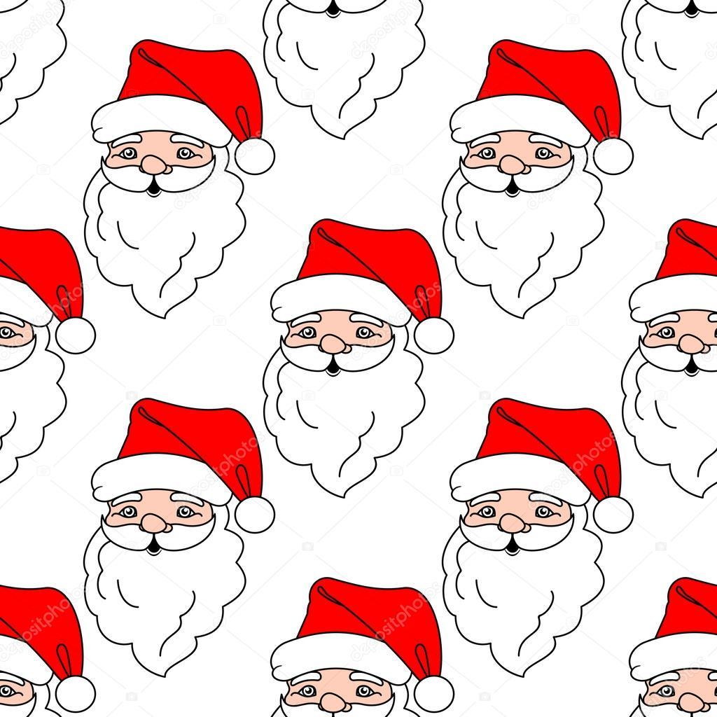 patrón sin costuras de Navidad con santa claus de dibujos animados ...