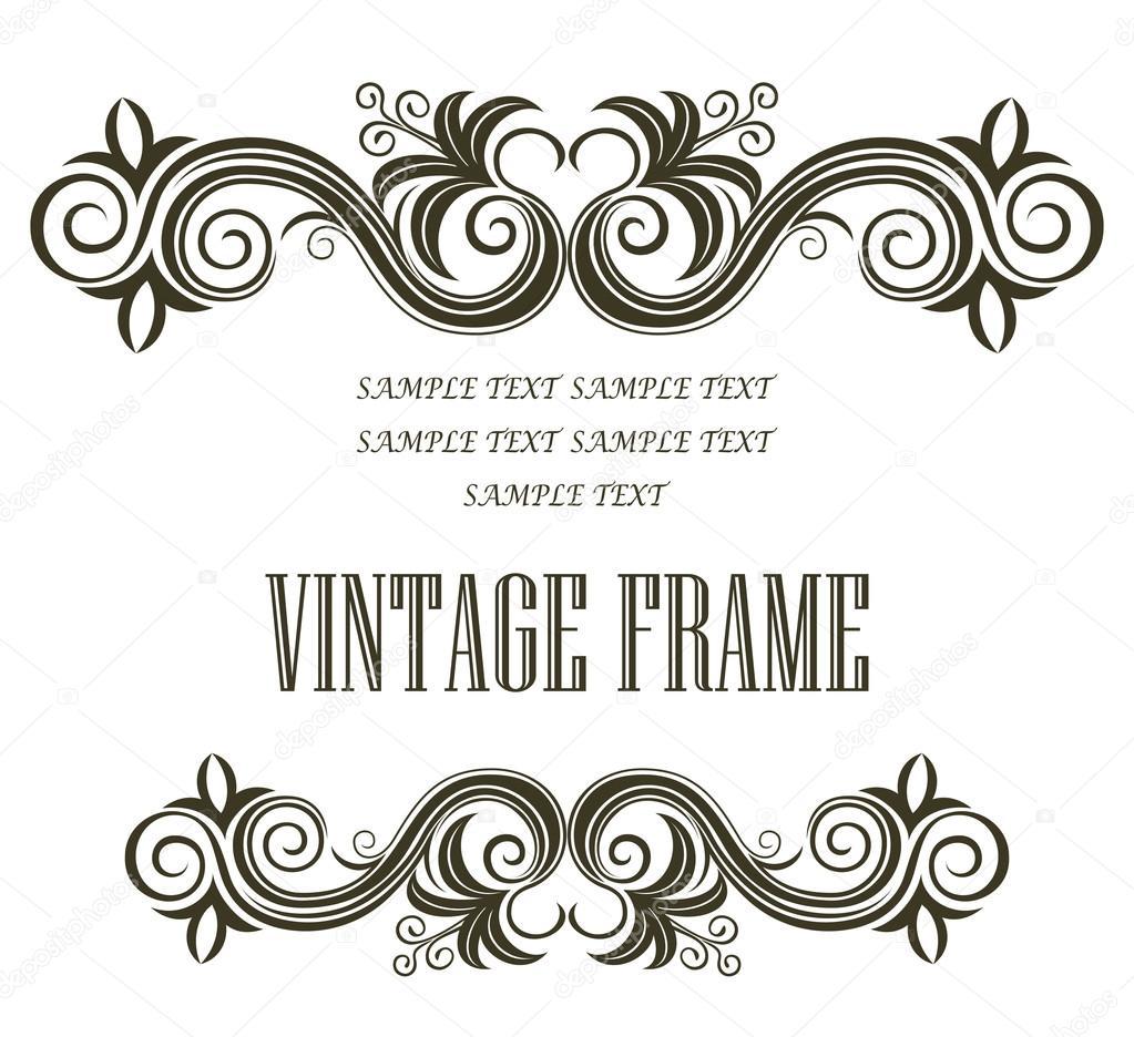 pie de página y encabezado de encuadre vintage — Vector de stock ...