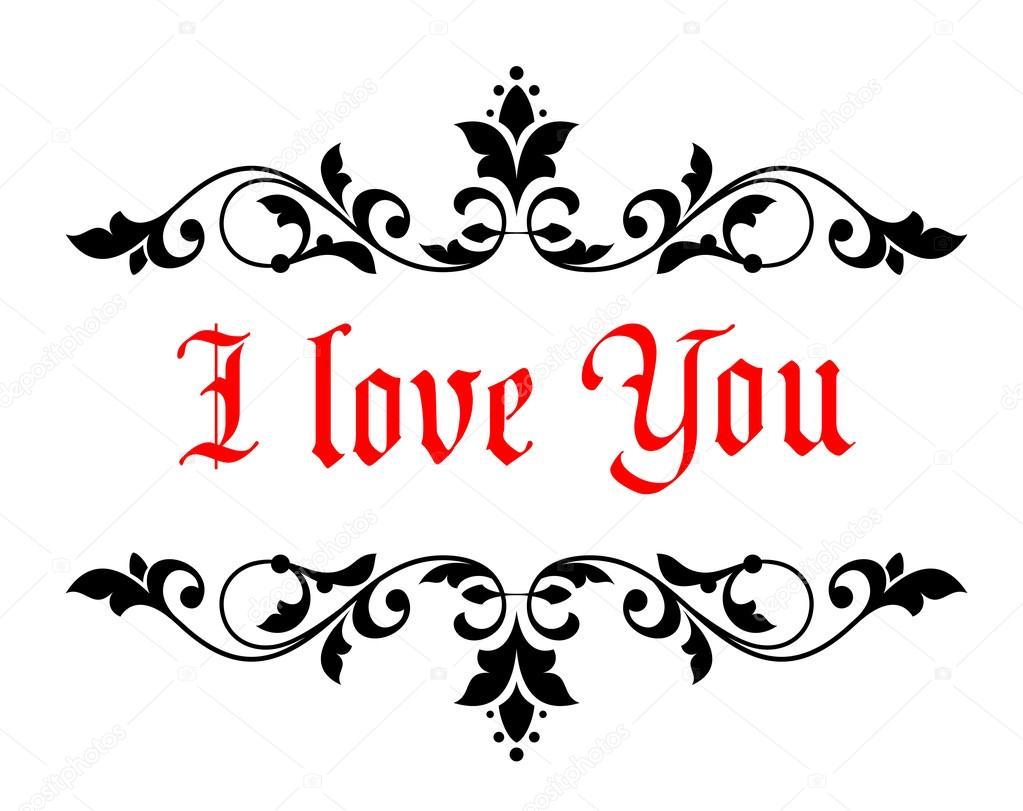 ich liebe dich valentines nachricht stockvektor 39132403. Black Bedroom Furniture Sets. Home Design Ideas