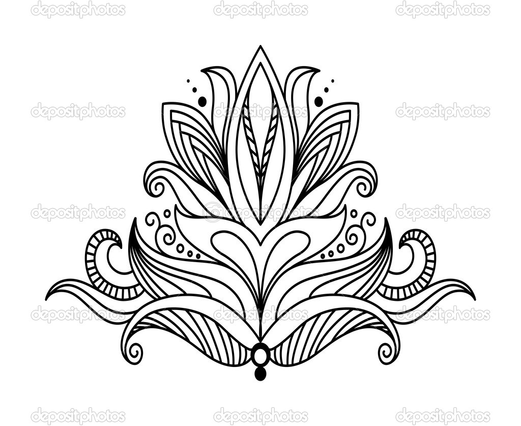 Symmetrical Design Symmetrical Floral Design Element  Stock Vector   Seamartini .