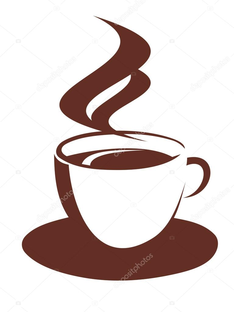 doodle desenho de xícara de café fumegante vetores de stock