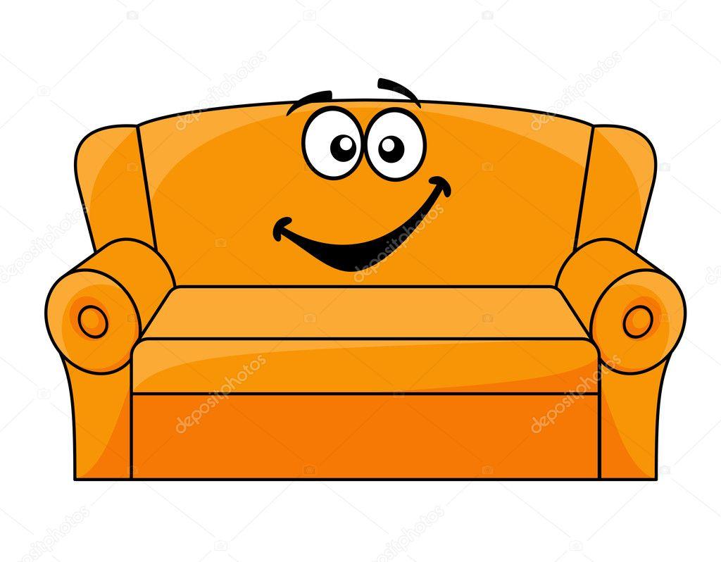 Sof tapizado de dibujos animados archivo im genes for Imagenes de sofas comodos