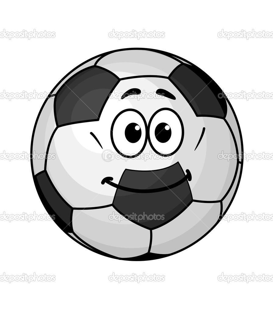 Ballon de soccer de dessin anim image vectorielle - Dessin de ballon ...