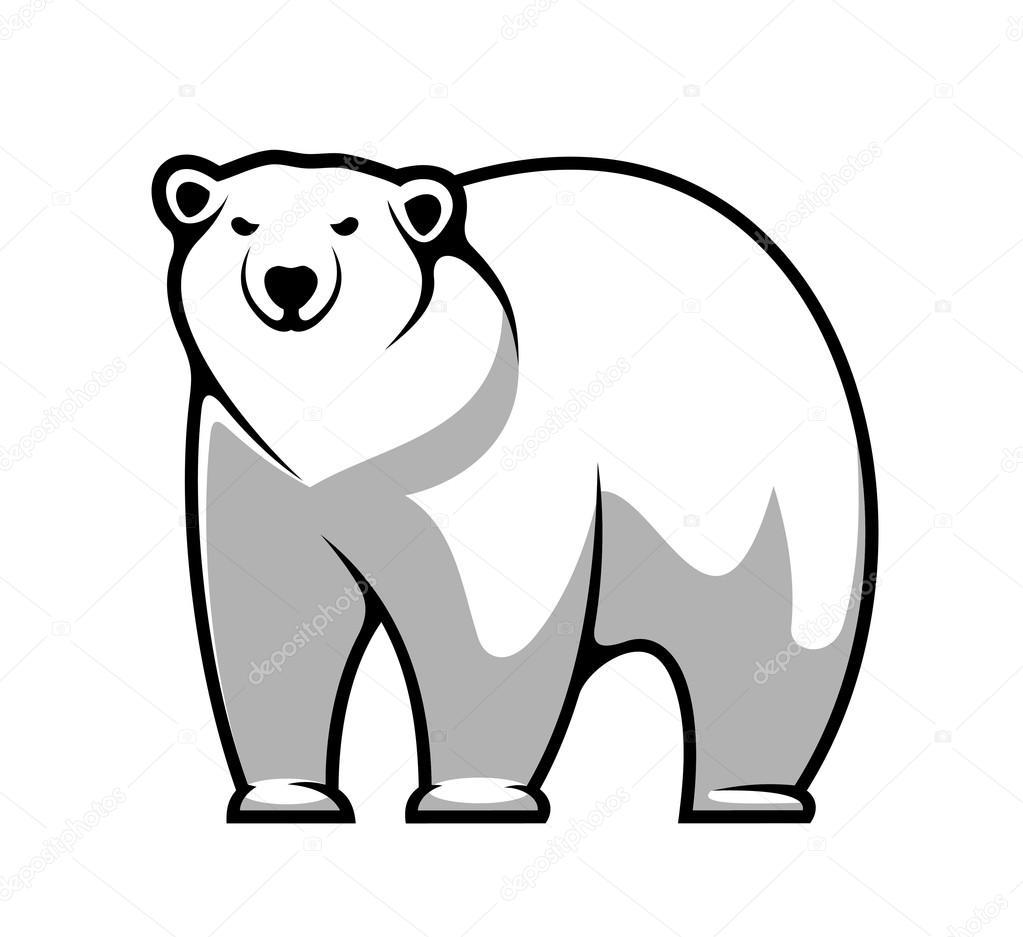 Image result for polar bear clipart black and white   Cartoon drawings of  animals, Polar bear cartoon, Cute polar bear