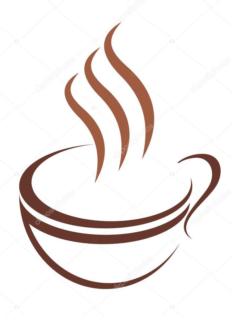 Gekritzel Skizze Tasse dampfende heiße Getränke — Stockvektor ...
